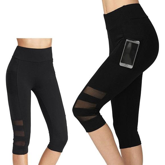 3d063bb1d6 Pants | Capri Yoga Leggings For Workout Running | Poshmark